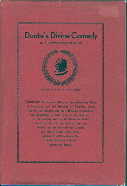 Image for DANTE'S DIVINE COMEDY:  A LINEAL AND RHYMED TRANSLATION.