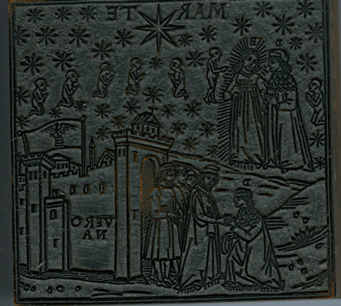 Image for A WOODBLOCK FROM THE ASHENDENE PRESS FEATURING A SCENE FROM PARADISO, CANTO XIII.